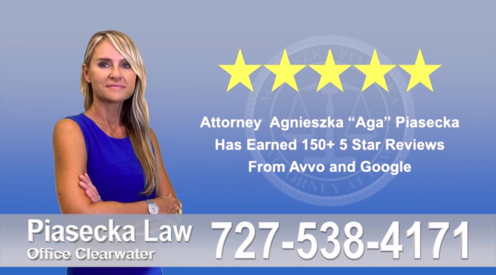 Agnieszka, Aga, Piasecka, Client, reviews, avvo google five star, 5-star, superb, best attorney